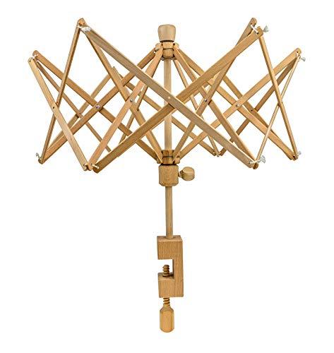 Stanwood Needlecraft Wooden Umbrella Swift Yarn Winder - Medium