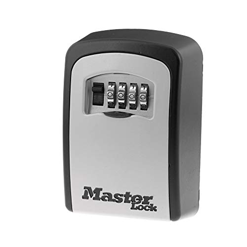 Master Lock 5401D Set Your Own Combination Wall Mount Lock Box, 5 Key Capacity, Black