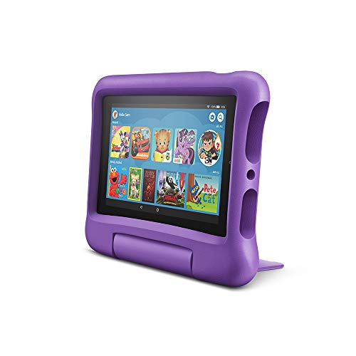 Fire 7 Kids Edition Tablet, 7' Display, 16 GB, Purple Kid-Proof Case