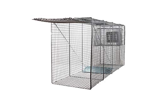 LifeSupplyUSA X-Large One Door Catch Release Heavy Duty Cage Live Animal Trap for Large Dogs, Foxes, Coyotes and Other Similar Sized Animals, 58'x26'x17'