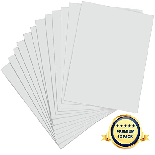 Foam Board 20 x 30 x 3/16' - Premium 12 Pack - White Poster Board, Acid Free, Double Sided, Rigid, Lightweight Signboard Foamboard for Crafts, Framing, Art, Display, Presentation and School Projects
