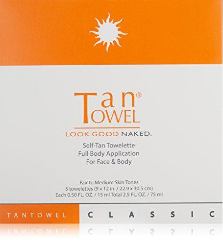 Tan Towel Tan Towel Full Body Classic 5 Pack, 4 Oz