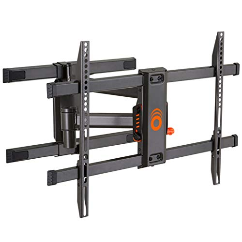 ECHOGEAR Full Motion Articulating TV Wall Mount Bracket for TVs Up to 78' - Smooth Extention, Swivel, Tilt - Wall Template for Easy Install - Centers & Levels After Mounting Plus Hides Your Cables