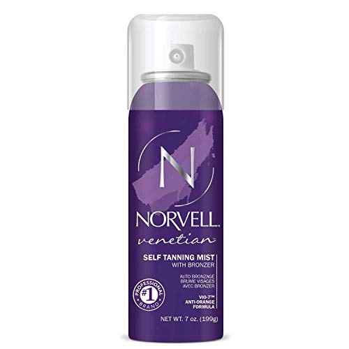 Norvell Venetian Sunless Self-Tanning Mist - Airbrush Spray Solution with Bronzer for Instant Sun Kissed Glow, 7 fl.oz.