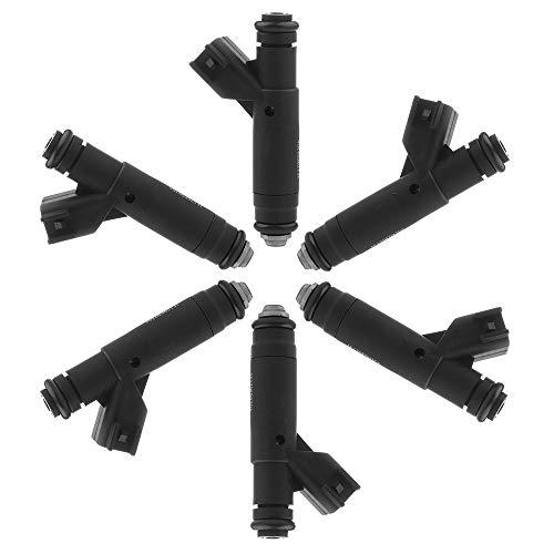 Fuel Injector,OCPTY 6pcs 4 Holes Replacement fuel Injectors Parts fit 2001 2002 2003 2004 2005 Ford Taurus Mercury Sable 3.0 V6,2001 2002 2003 Ford Ranger Mazda B3000 Compatible 1F1Z9F593DA Injectors