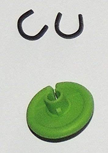 Super Flex KISSER Button - 2 PACK - The Ultimate Bowstring Kisser - Flexible Soft Comfort - 9/16' Diameter - Available in 9 Colors By Cir-Cut Archery (LIME GREEN)