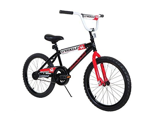 Dynacraft Magna Throttle Boys BMX Street/Dirt Bike 20', Black/Red/White
