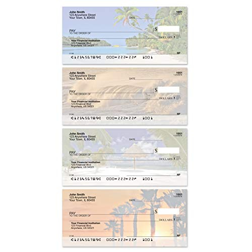 Island Paradise Beach Top Tear Value Priced Personal Checks (1 Box of Singles, Qty. 125)