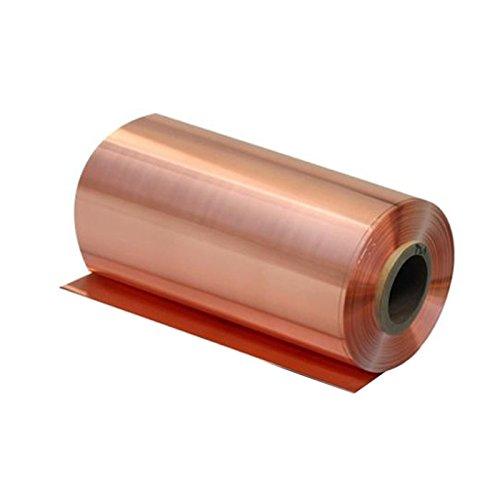 0.05mm x 200mm x 1000mm 99.9% Pure Copper Cu Metal Sheet Foil