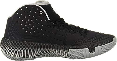 Under Armour Men's HOVR Havoc 2 Basketball Shoe, Black (002)/White, 9.5