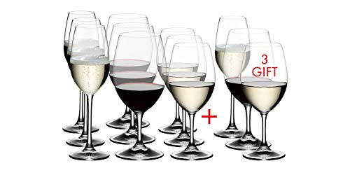 Riedel 5408/93 Ouverture White, Red Wine and Champagne Glass, Set of 12, Clear