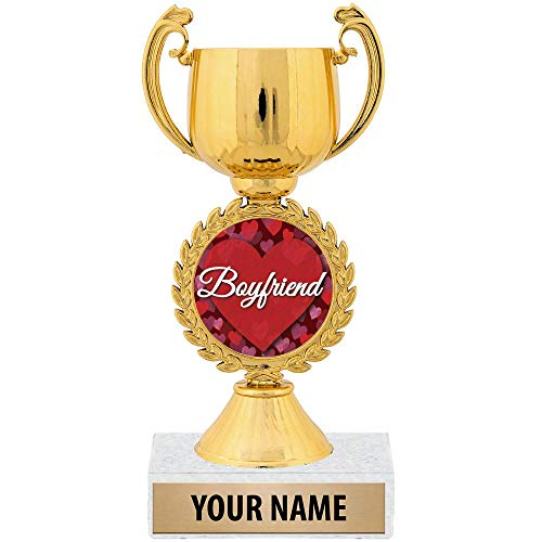 Personalized Ideas, 7 1/4' Best Boyfriend Award Trophy Great Customizable Gift for Him Prime