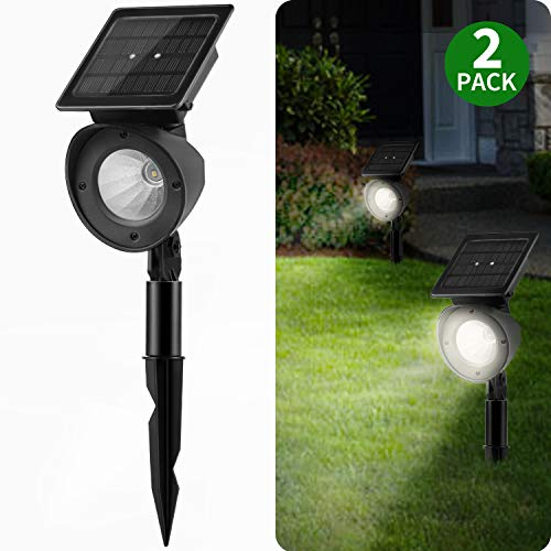 Solar Landscape Spotlights, Brightown Waterproof Adjustable Outdoor Led Spot Lights Wireless Automatic Landscaping Light for Yard Driveway Garden Pathway Lawn Walkway Pool Patio Pack of 2