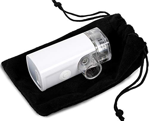 Wizard Research Laboratories Handheld Sized Portable Nebulizer - Silent - Rechargeable - for Saline, Albuterol, Other Liquids (B084KZ8PSN)