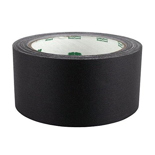 BookGuard 2 inch Premium Cloth Bookbinding Repair Tape | 15 Yard Roll (Black)