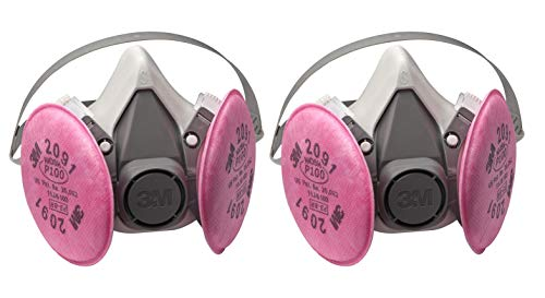 3M Half Facepiece Reusable Respirator Assembly (AAD), P100 Respiratory Protection (Small. 2-PACK)