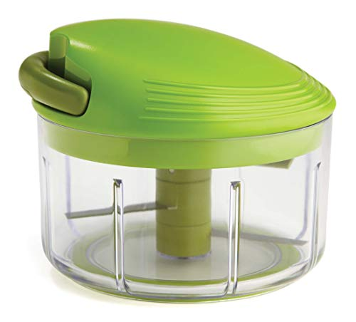 Kuhn Rikon 2-Cup Pull Chop Chopper/Manual Food Processor with Cord Mechanism, Green, 4-Inch