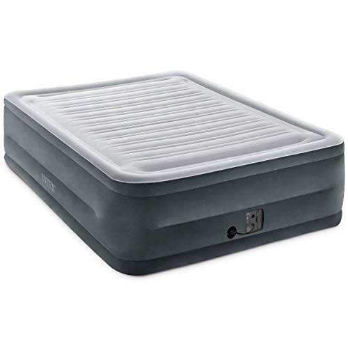 Intex Comfort Plush Elevated Dura-Beam Airbed with Internal Electric Pump, Bed Height 22', Queen