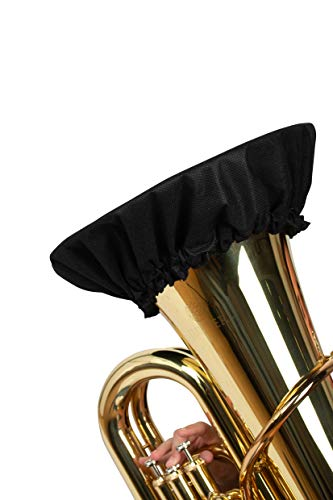 Gator Cases Double-Layer Aerosol Cover with MERV-13 Filter for Euphonium, French Horn; Fits Bell Sizes Ranging from 12 to 13-Inches (GBELLCVR1213BK)