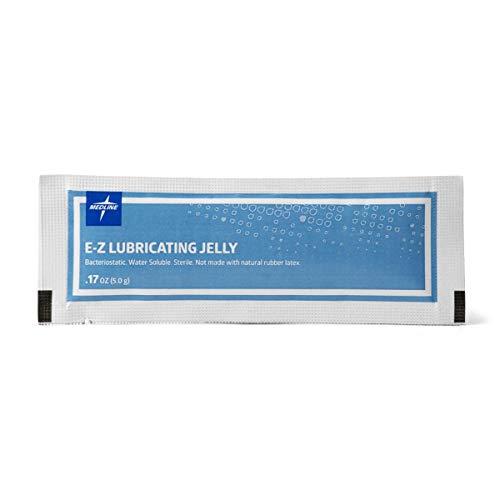 Medline MDS032280Z Sterile Lubricating Jelly, 5 g Foil Packets, 0.17 oz (Pack of 150)