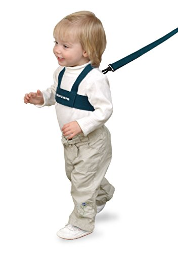 Toddler Leash & Harness for Child Safety - Keep Kids & Babies Close - Padded Shoulder Straps for Children's Comfort - Fits Toddlers w/ Chest Size 14-25 Inches - Kid Keeper by Mommy's Helper (Blue)