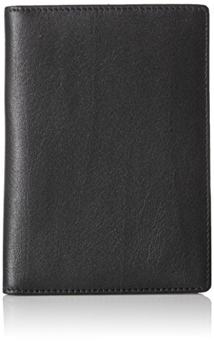 AmazonBasics Leather RFID Blocking Passport Holder Wallet - 6 x 4 Inches, Black