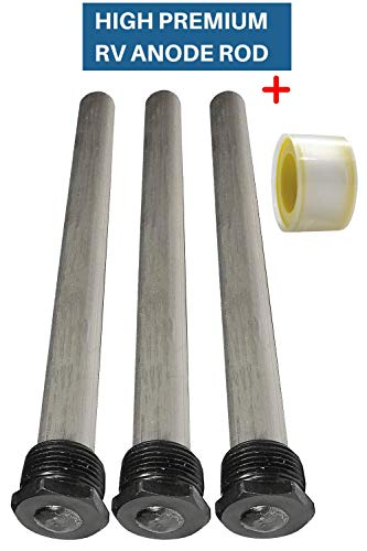 (3 Pack) Water Heater RV Anode Rod - Replacement Suburban 232767 Mor-Flo - 3/4' Thread with PTFE Thread Seal Teflon Tape