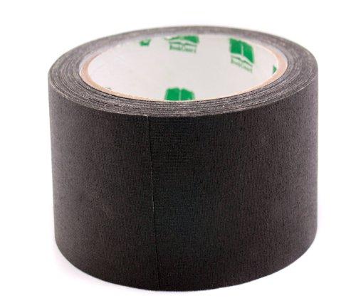 BookGuard 3 inch Premium Cloth Bookbinding Repair Tape, 15 Yard Roll, Black