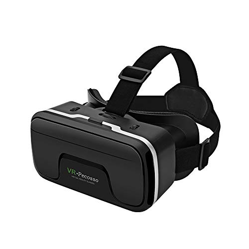 VR Headset, Pecosso 3D Virtual Reality Glasses Compatible with iPhone & Android Phone New Goggles for Movies Compatible 4.7'-6.53' Soft & Comfortable Adjustable Distance - Gift for Kids and Adults
