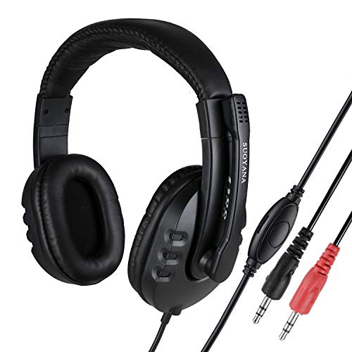Gaming Headset for Xbox One, PC, PS4, 7.1 Surround Sound Gaming Headphones with Noise Canceling Microphone, Wired Over-Ear Headphones with Mic, Compatible with Mac, Nintendo Switch,Laptop