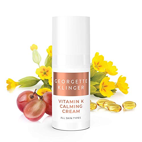 Vitamin K Facial Calming Cream by Georgette Klinger – Calm and Soothe Red Irritated Skin – Face Moisturizer for Couperose, Broken Capillaries and Redness from Shaving.