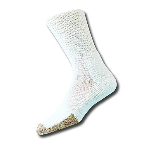 Thorlos Unisex TX Tennis Thick Padded Crew Sock, White, Large