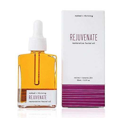 Naked + Thriving Rejuvenate Restorative Facial Oil - Organic, Vegan, All-Natural Skin Care & Face Oil (1.0 oz/30 mL)