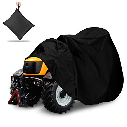 NASUM Outdoors Lawn Mower Cover -Tractor Cover Fits Decks up to 54', 420D Riding Lawn Mower Cover, Protection Universal Fit for Your Ride-On Garden Tractor, with Drawstring & Storage Bag(72x54x46in)