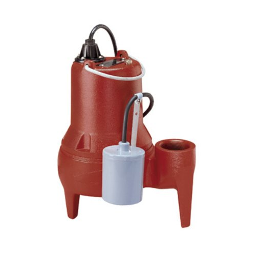 Liberty Pumps LE51A LE50-Series Submersible Automatic Sewage Pump, RED