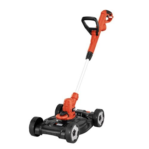 BLACK+DECKER 3-in-1 String Trimmer/Edger & Lawn Mower, 6.5-Amp, 12-Inch (MTE912)
