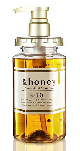 &honey Shampoo Deep Moist 1.0 Organic Hair and Scalp Care for Intense Cleansing and Hydration - Moisture-Enhancing Wash and Protection - Ideal for Straight, Curly, Curl, Frizzy, Kinky, Treated, Colore