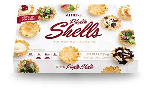Athens Mini Fillo Dough Shells 1.9 Oz [54g] (2-Packs, 15 Shells/Pack)