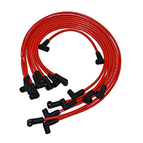 A-Team Performance Silicone Spark Plug Wires Set Automotive Wire Accessories Compatible with Chevy Chevrolet GMC V6 V8 4.3L 5.0L 5.7L TBI EFI - 8.0mm Red