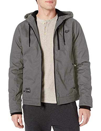 Fox Head Men's Fleece Lined Jacket, Pewter, L