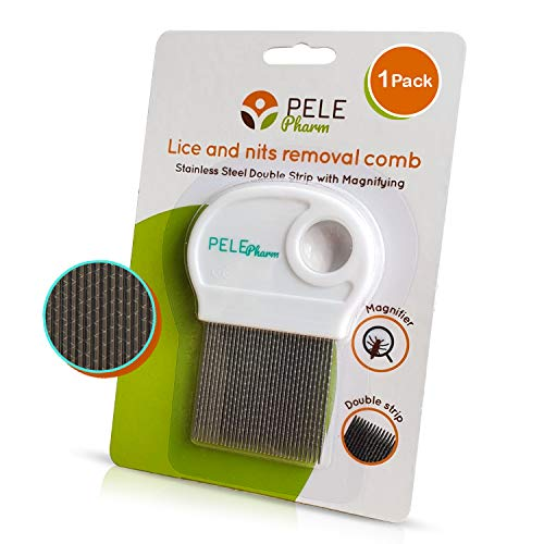 Lice Comb for Kids Treatment Nit Eggs – Bugs Removal - Won't Rust or Pull Hair Out - Best for Long/Short/Thick/Fine/Dry & Wet Hair Louse