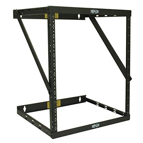 TRIPP LITE 8U/12U/22U Expandable Wall-Mount 2-Post Open Frame Rack, Adjustable Network Equipment Rack, Switch Depth, 18' Deep, 5 Year Warranty (SRWO8U22)