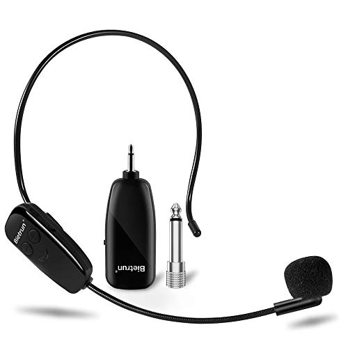 Wireless Microphone Headset, UHF Wireless Headset Mic System, 160ft Range, Headset Mic and Handheld Mic 2 in 1, 1/8''1/4'' Plug, for Speakers, Voice Amplifier, PA System-Not Supported Phone, Laptop