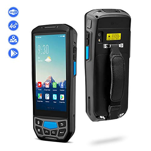 Android 8.1 Barcode Scanner MUNBYN Rugged Handheld Mobile Terminal with 1D Honeywell Laser Reader, Touch Screen, Camera, Wireless 4G WiFi GPS BT for Delivery Shipping Warehouse Retail Inventory System