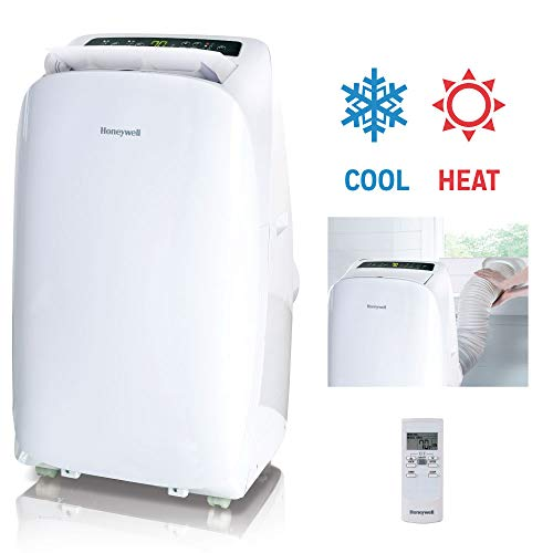 Honeywell, White HL14CHESWW Portable Air Conditioner with Heat Pump, Fan & Dehumidifier with Thermal Overload Protection, 14, 000 BTU
