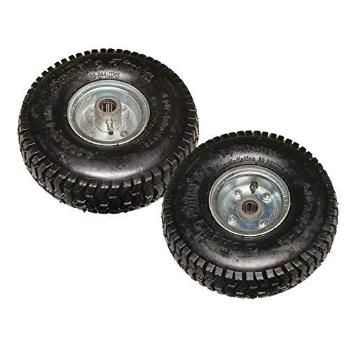 Pack of 2 Jungle Jim's 900 Genuine OEM Jungle Wheel Tire Assembly 4.10/3.50-4
