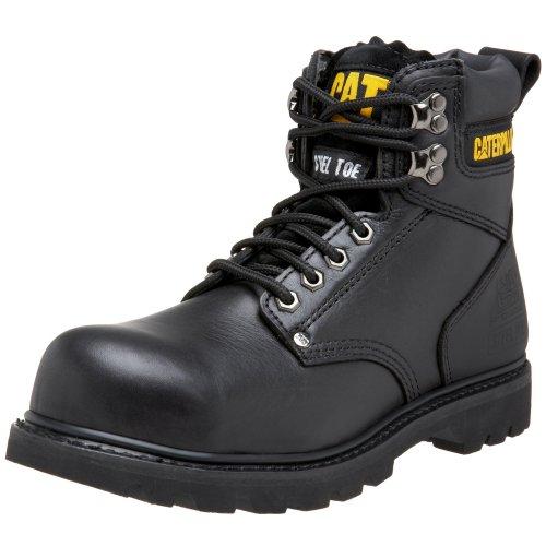 Caterpillar Men's Second Shift Steel Toe Work Boot, Black Full Grain, 11 M US