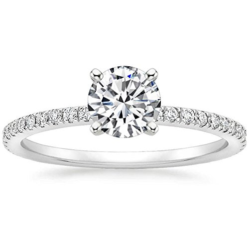 Lemon Grass 1 Ct Halo Solitaire Cubic Zirconia Promise Engagement Ring 925 Sterling Silver Ring Sizes 6