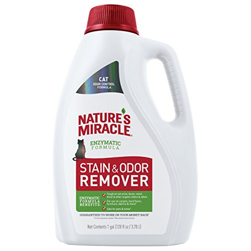 Nature's Miracle P-98152 Cat Stain and Odor Remover, Enzymatic Formula for Urine Stains, Feces Stains, Vomit Stains and Drool Stains, Odor Control, 128 fl oz