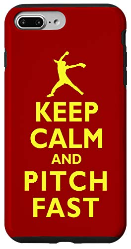 iPhone 7 Plus/8 Plus Keep Calm and Pitch Fast Pitch Softball Pitcher Pitching Case